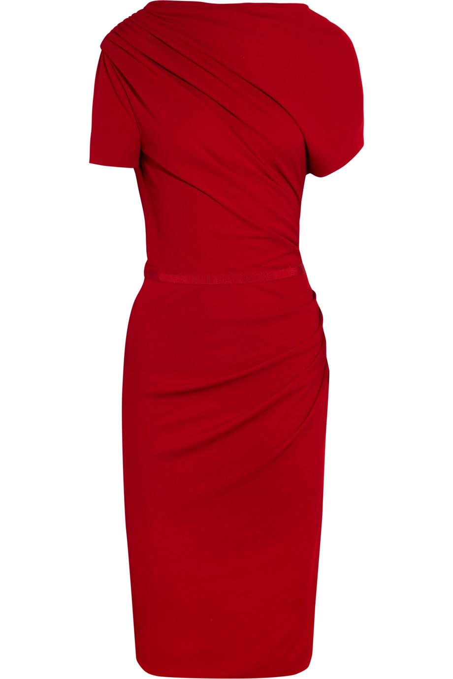 Asymmetrical Ruched Dress