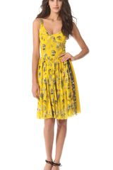 Jean Paul Gaultier Sleeveless Printed Dress - Lyst