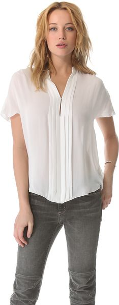 L'Agence Pleated Blouse - Lyst