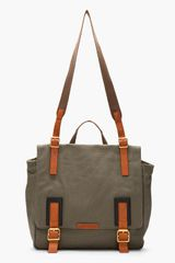 Marc By Marc Jacobs Olive Green Canvas Leathertrimmed Hugo Messenger - Lyst