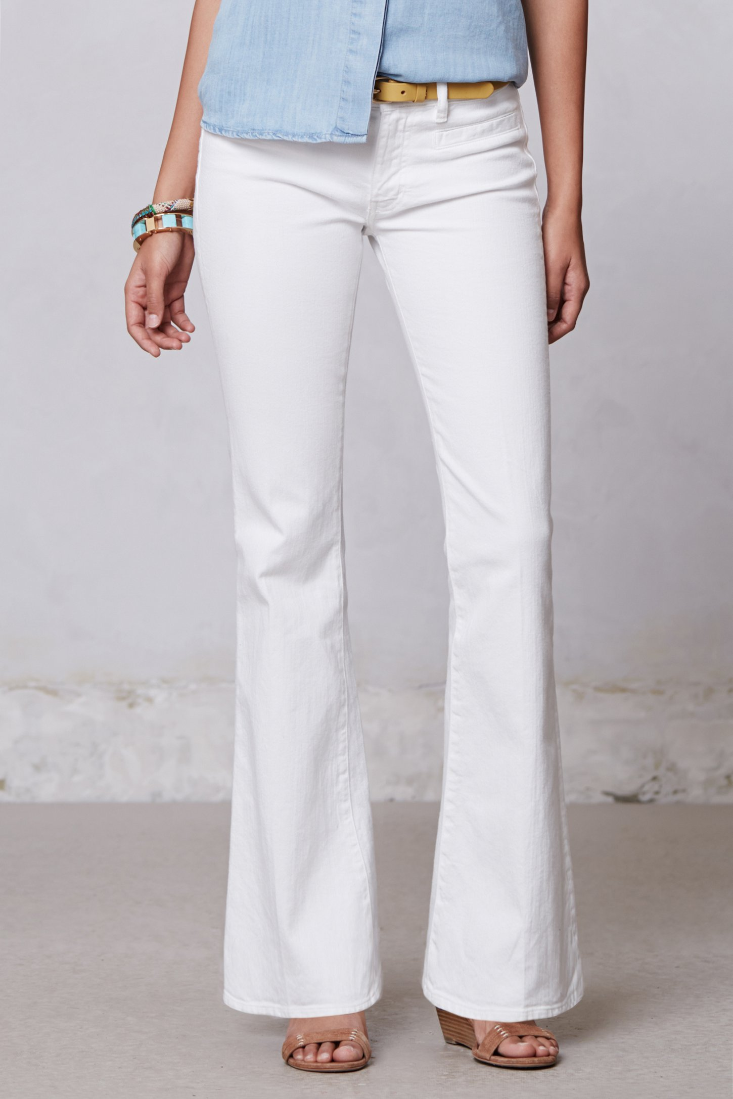 M.i.h jeans Casablanca Flare Petite Jeans in White | Lyst