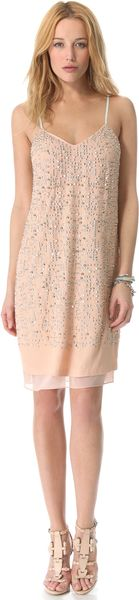 Rebecca Taylor Beaded Cami Dress - Lyst
