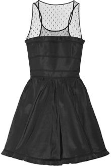 RED Valentino Faille and Polkadot Tulle Dress - Lyst