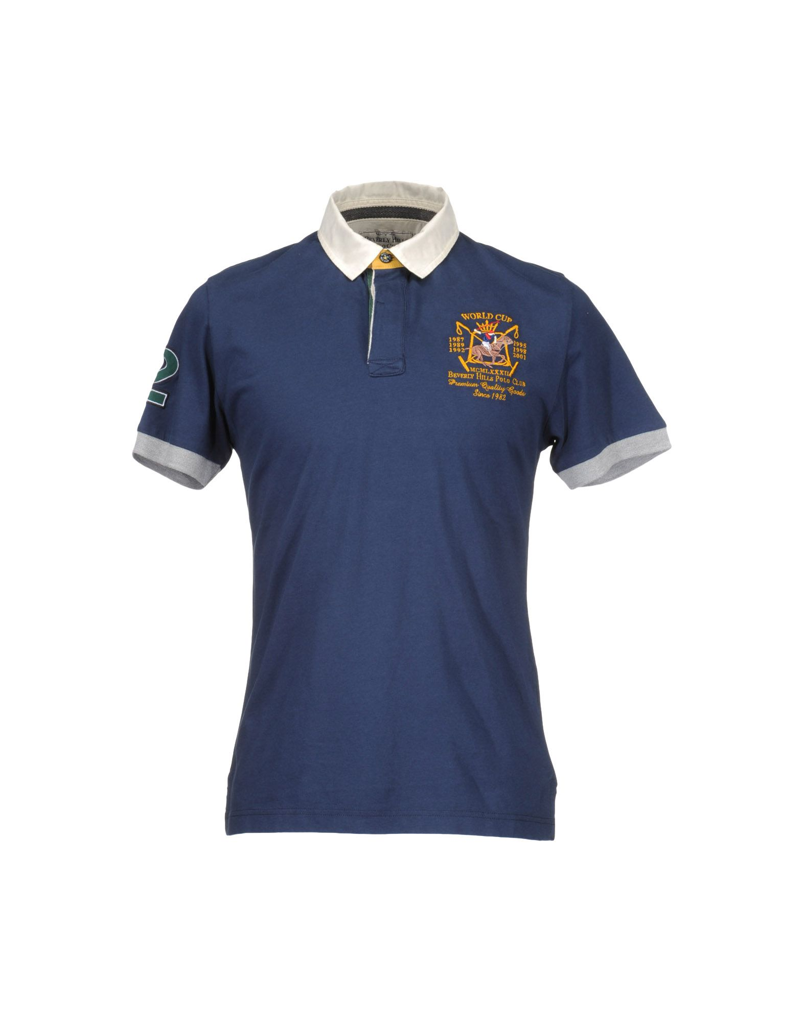 Beverly Hills Polo Club Polo Shirt In Blue For Men Dark