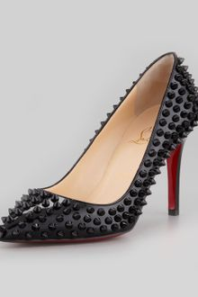 Christian Louboutin Pigalle Spiked Pointedtoe Red Sole Pump Pink - Lyst