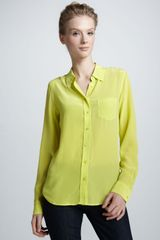 Equipment Brett Super Vintage Wash Blouse - Lyst
