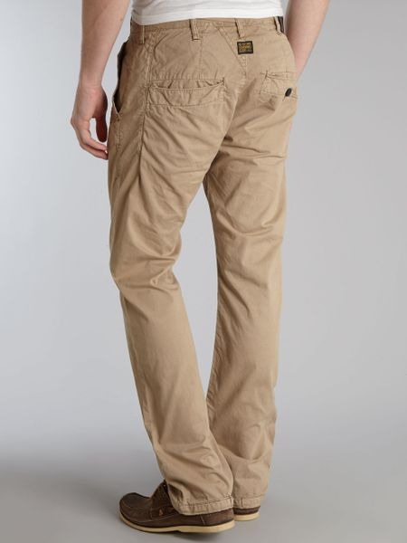 g star raw tapered chino in beige for men stone lyst. Black Bedroom Furniture Sets. Home Design Ideas