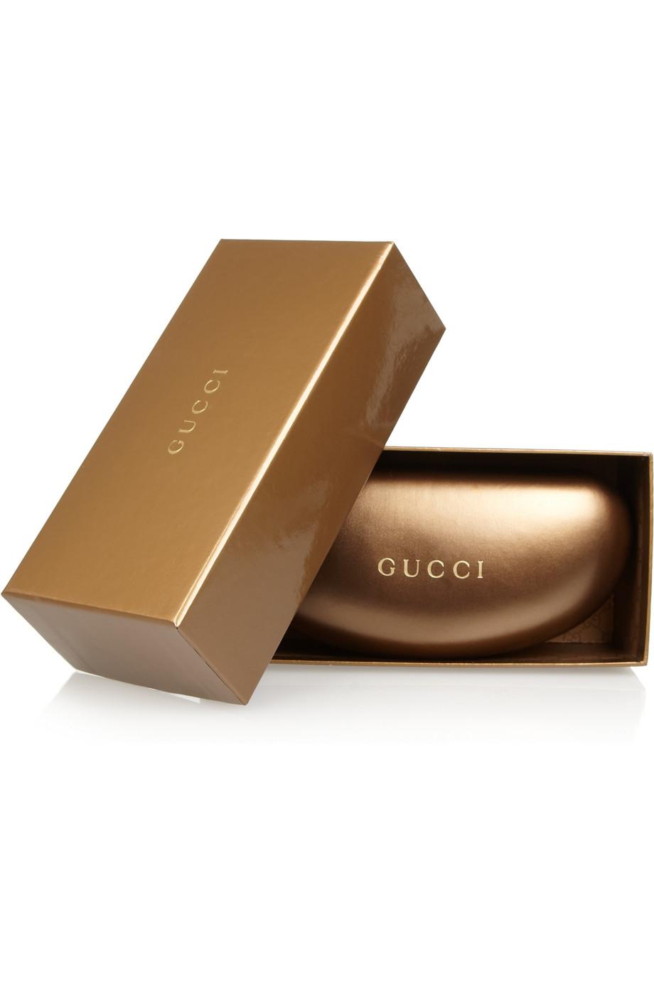 Lyst Gucci Roundframe Metal Sunglasses In Metallic