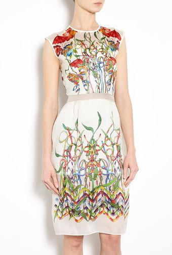 Hermione De Paula Mona Cocktail Print Organza Dress - Lyst