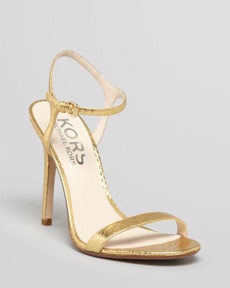 michael kors gold high heel shoes gold high heel sandals. Black Bedroom Furniture Sets. Home Design Ideas