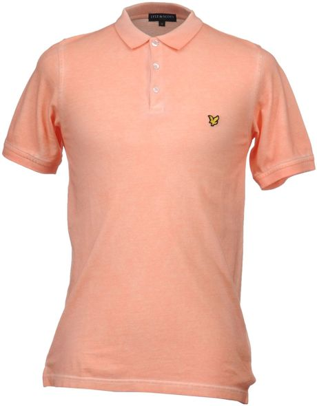 Lyle Scott Polo Shirts In Pink For Men Salmon Pink Lyst