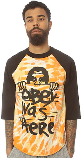 Obey The Obey Was Here Tie Dye Baseball Tee - Lyst
