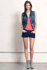 Rag & Bone Cut Off Short Indigo Wash - Lyst