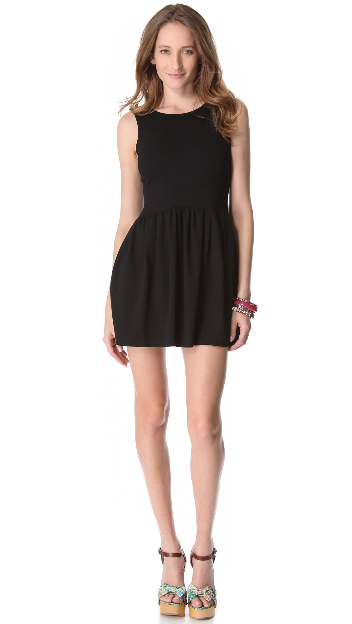 red valentino bow back dress in black lyst
