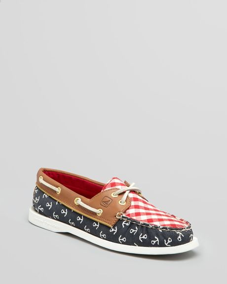Sperry Top-sider Boat Shoes Ao 2 Eye Nautical in Multicolor (navy red