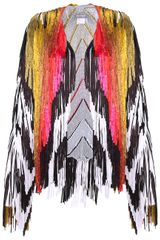 Tim Ryan Multi Pink Fringed Chevron Jacket