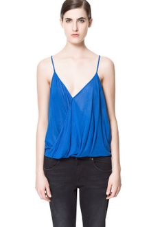 Zara Draped Camisole Top - Lyst