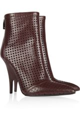 Alexander Wang Shelly Perforated Leather Ankle Boots - Lyst