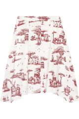 Carven Safari Print Cotton Skirt - Lyst