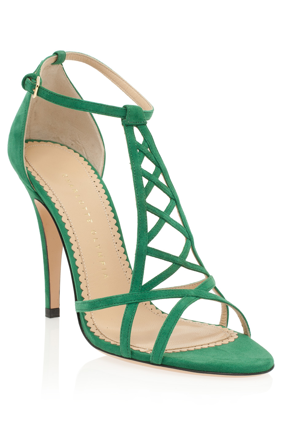 Charlotte Olympia Eiffel Tower Sandals In Green Lyst
