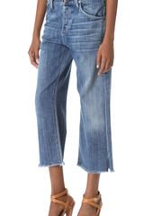 Citizens Of Humanity Ines Crop Jeans - Lyst