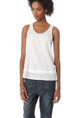 Clu Paneled Polka Dot Top - Lyst