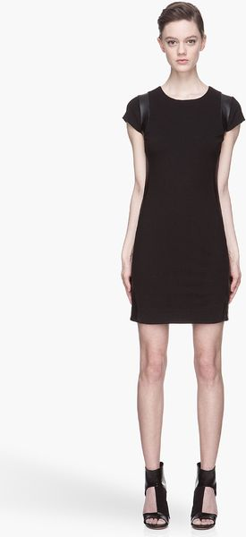 Diane Von Furstenberg  Leather Wave Knit Dress - Lyst