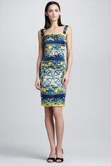 Dolce & Gabbana Lemon and Tile Print Tank Dress - Lyst