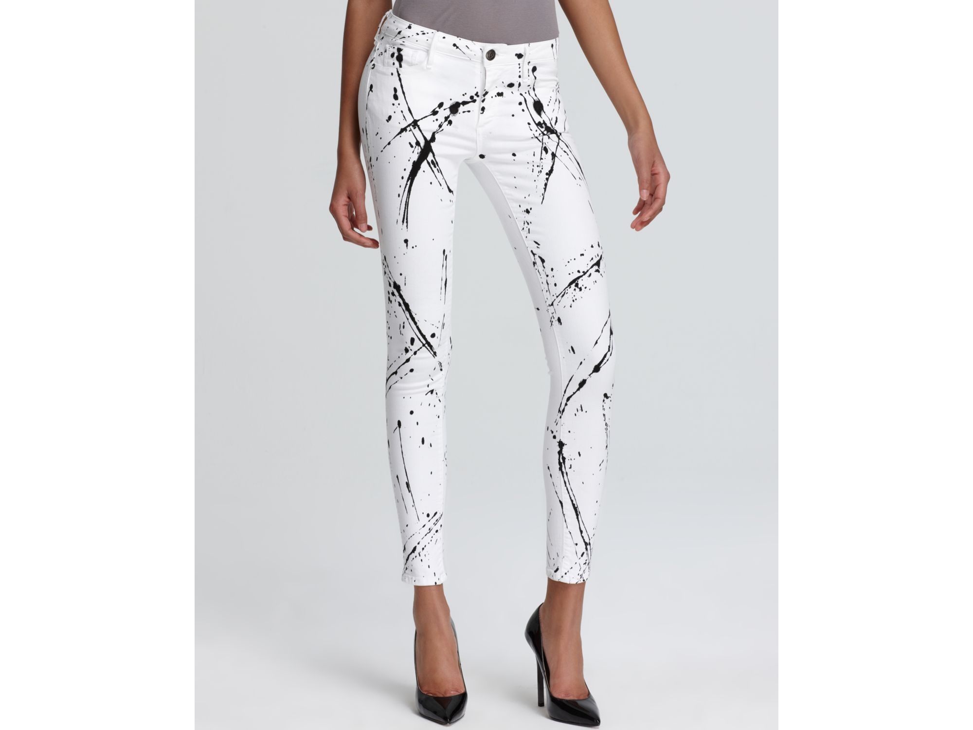 Earnest Sewn Jeans Esra Paint Splatter Skinny In Jackson