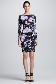 Emilio Pucci Asymmetric Butterfly Print Dress - Lyst