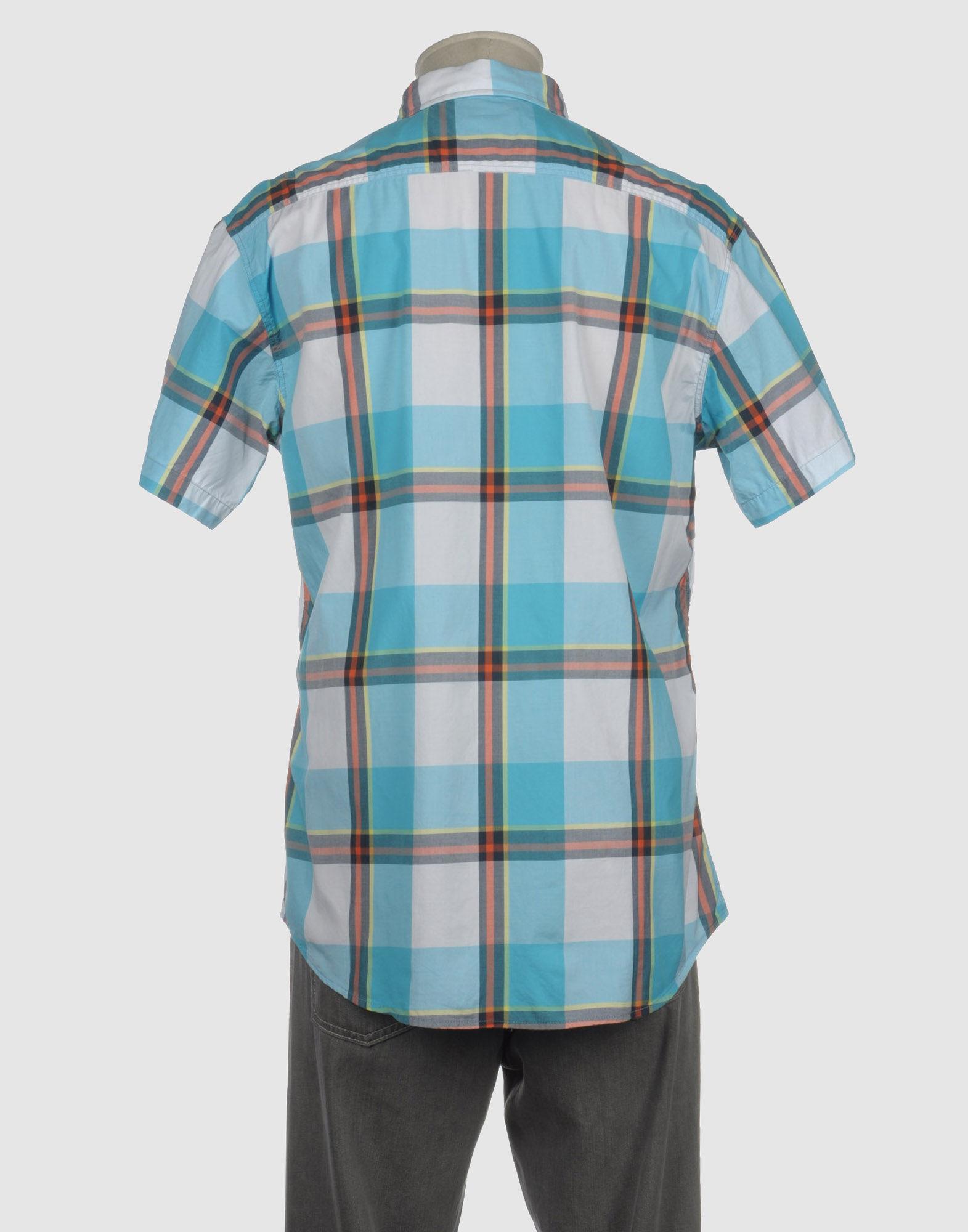 Lyst Franklin Marshall Short Sleeve Shirt In Blue For Men