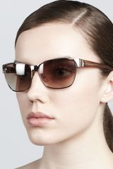 Givenchy Metal Rectangular Sunglasses - Lyst