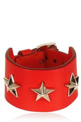 Givenchy Triple Stars Leather Cuff Bracelet