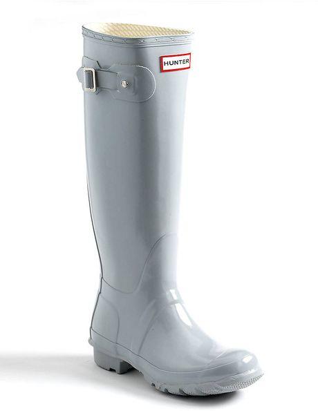 Hunter Original Gloss Rain Boots In Gray For Men Smoke