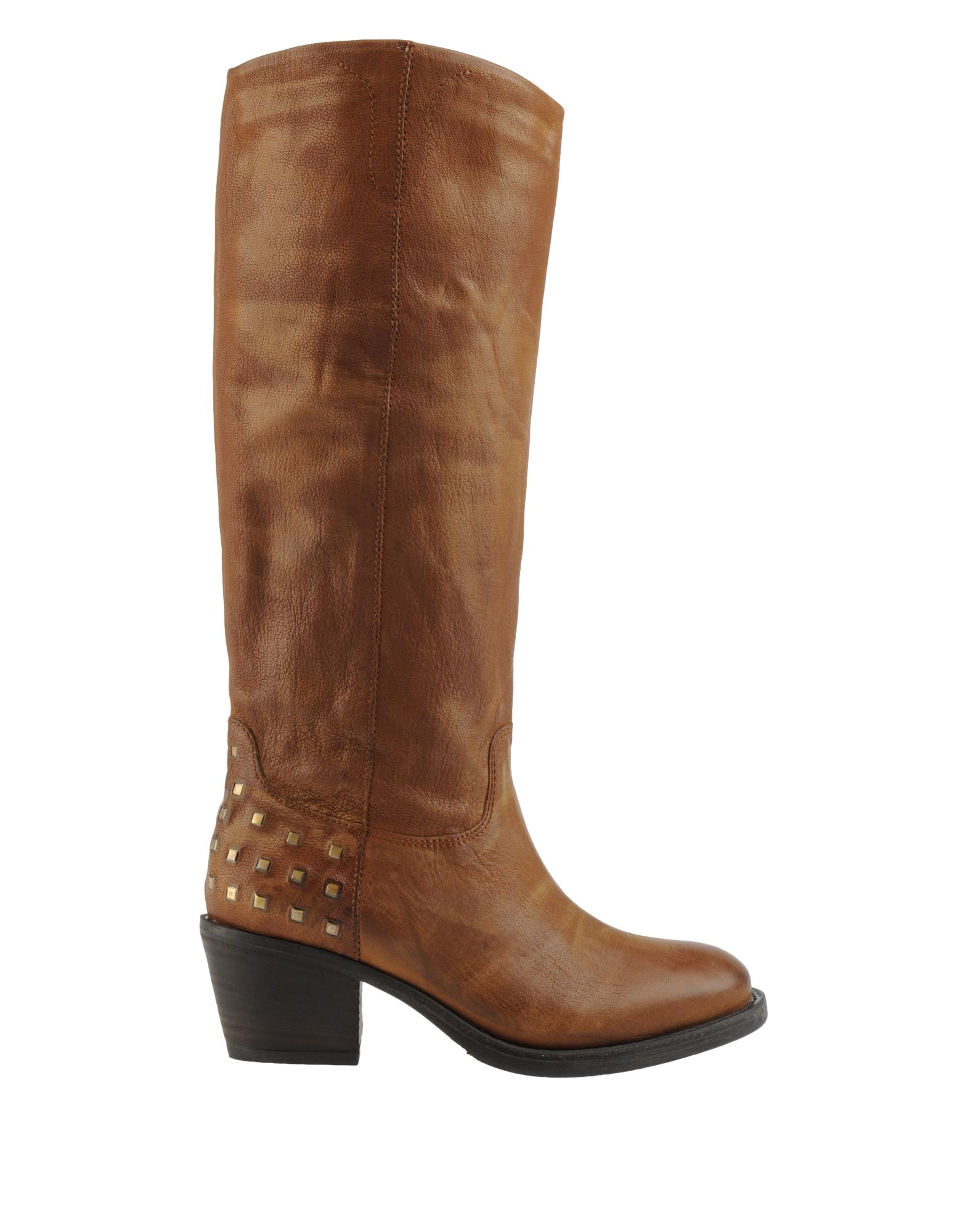 janet janet high heeled boots in brown save 79 lyst