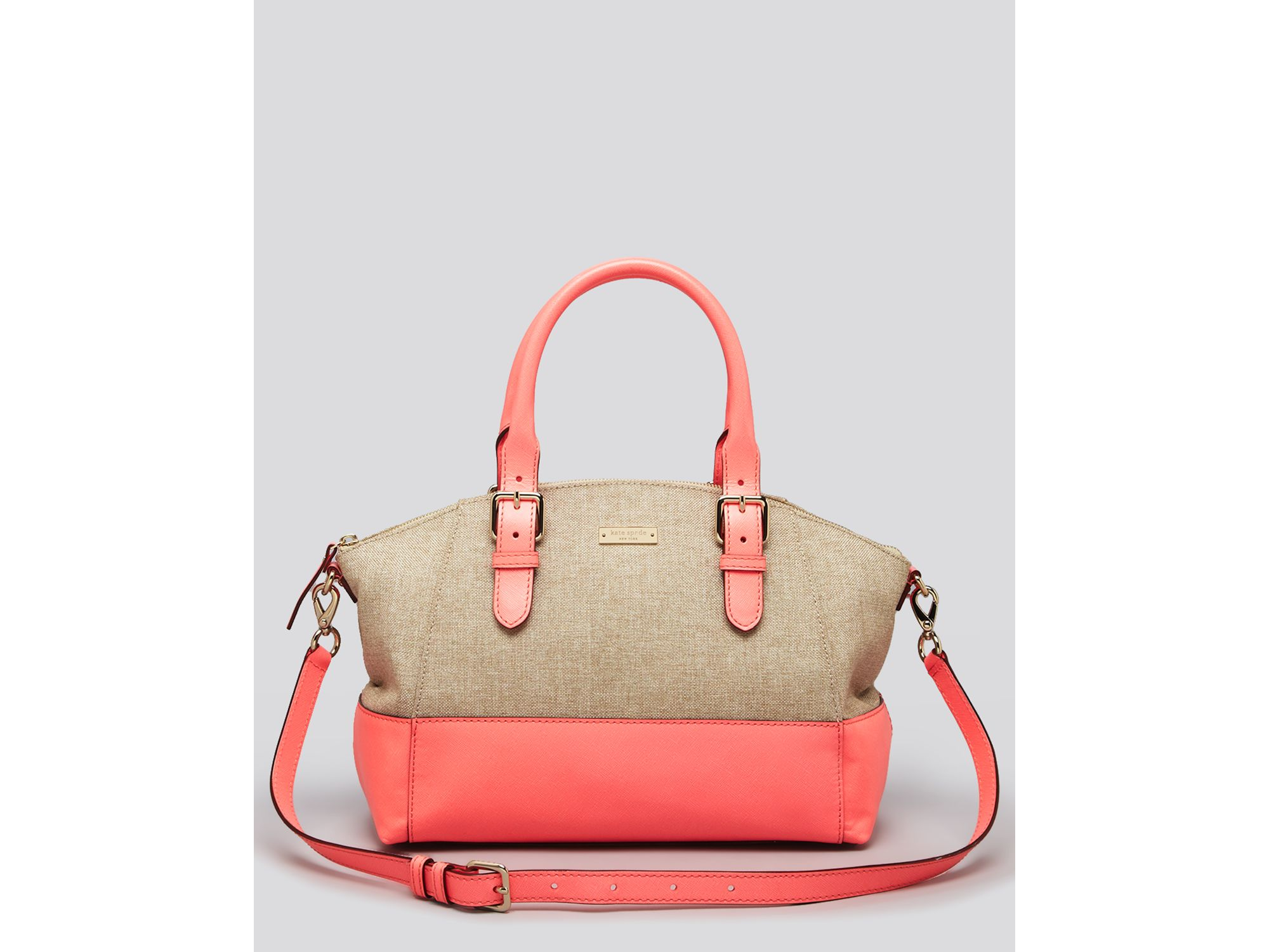 Lyst - Kate Spade Satchel Charlotte Street Fabric Small Sloan in Orange 66743c6153154