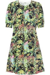 Kenzo Printed Cotton-Blend Dress - Lyst