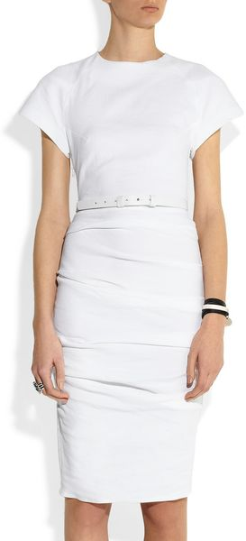 La Petite Salope Belted Woven Stretch Linenblend Dress - Lyst