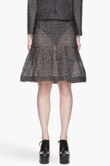 Simone Rocha Sheer and Black Embroidered Little Plastic Daisy Skirt - Lyst