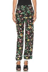 3.1 Phillip Lim Faded Botanical Pajama Pant in Black - Lyst