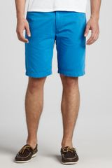 7 For All Mankind Chino Twill Shorts Blue - Lyst