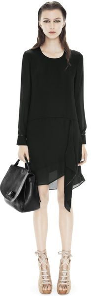 Acne Drape Back Dress - Lyst