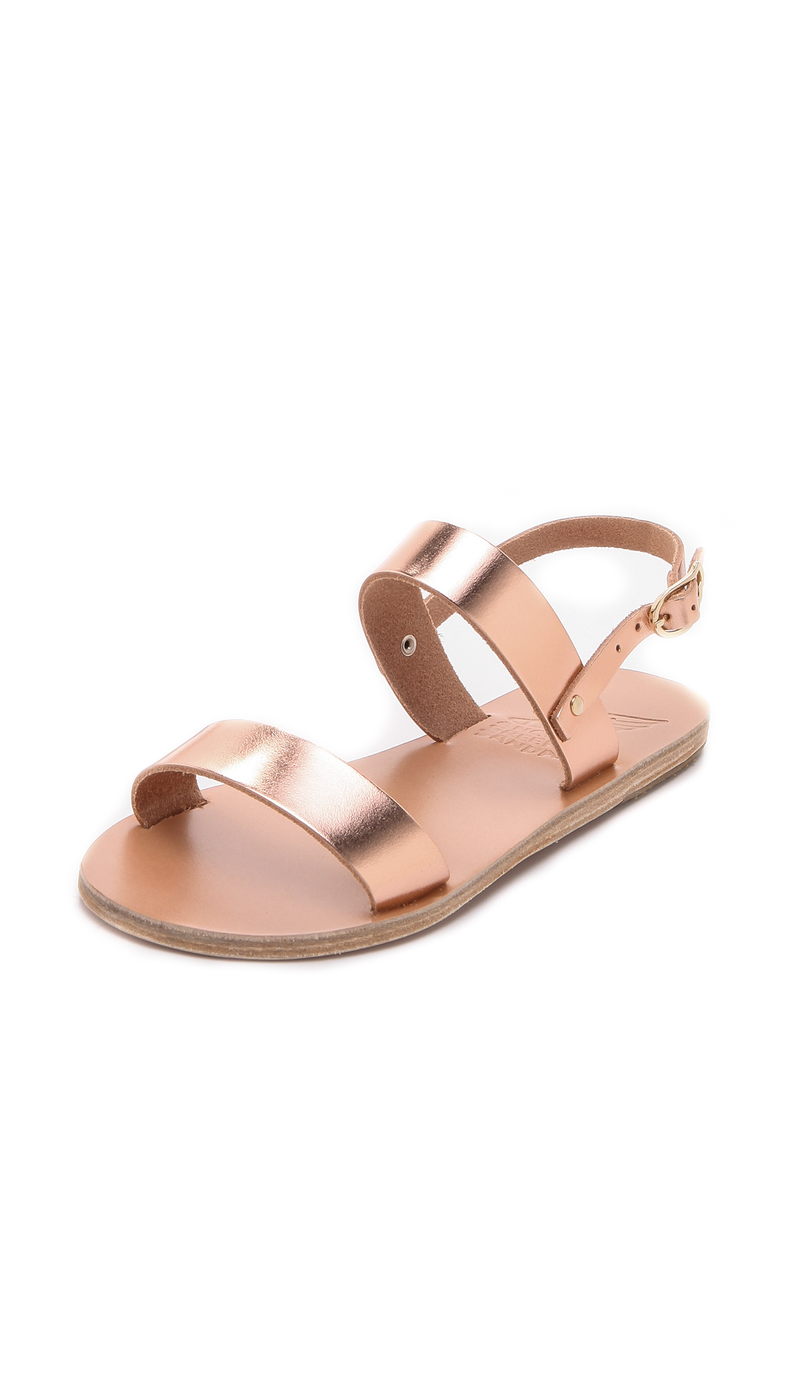 Ancient Greek Sandals Clio Metallic Sandals In Pink Lyst