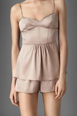 Burberry Corset Detail Stretch-Silk Camisole - Lyst