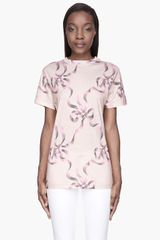 Christopher Kane Warm Begie Plain Big Bow Tshirt - Lyst