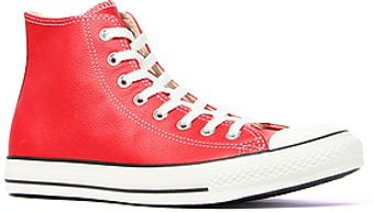 Converse The Chuck Taylor All Star Hi Leather Sneaker in Red - Lyst