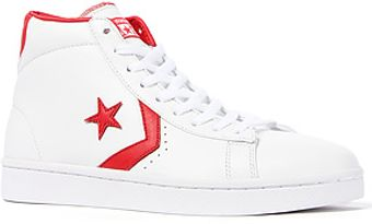 Converse The Pro Leather Sneaker in White Varsity Red - Lyst