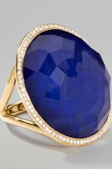 Ippolita Rock Candy Large Lollipop Diamond Lapis Ring - Lyst