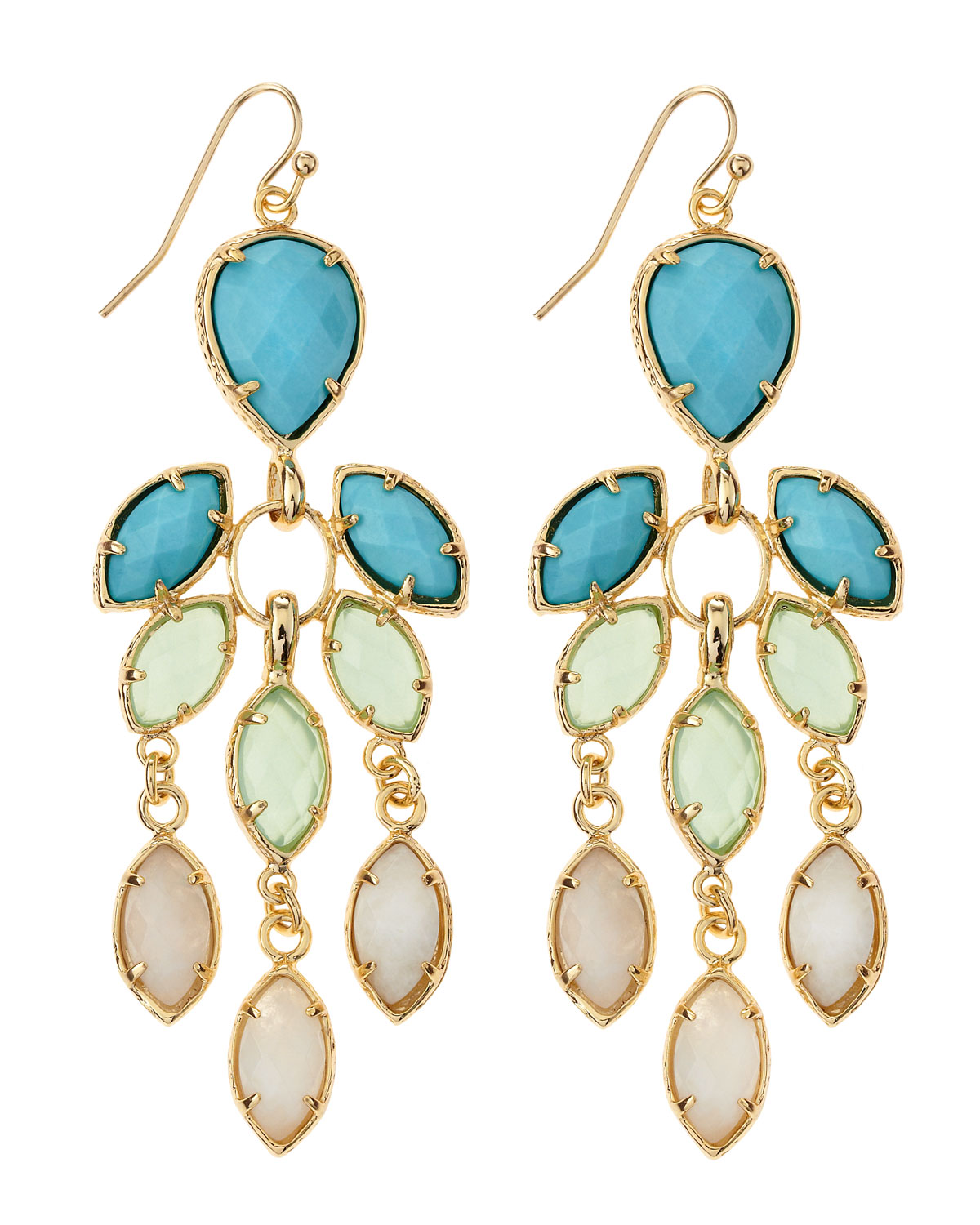 Lyst kendra scott flower chandelier earrings cabana in metallic gallery arubaitofo Images