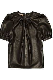 Michael Kors Leather Top - Lyst